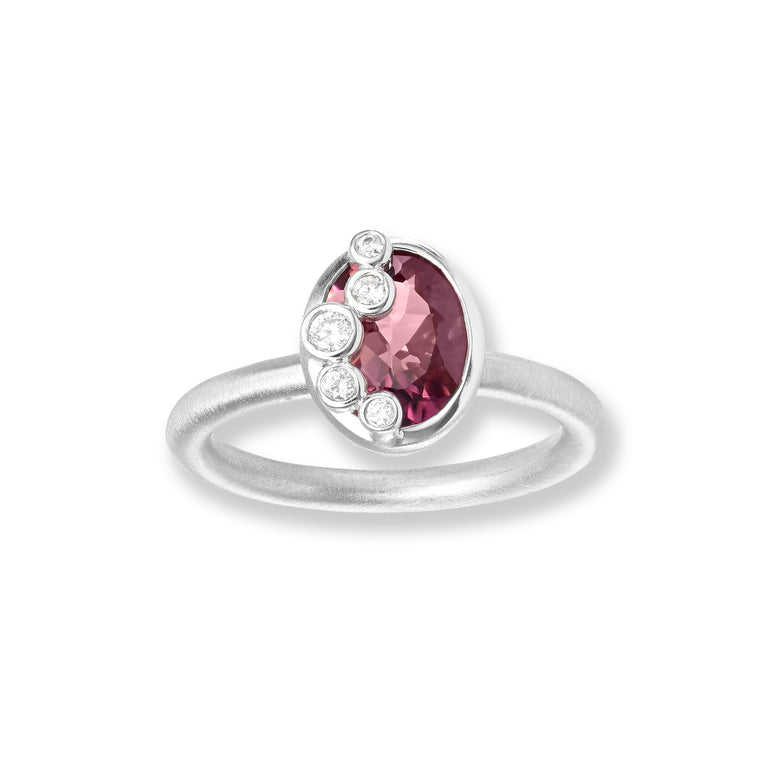 Throwing Stones Ring Tourmaline & Diamonds