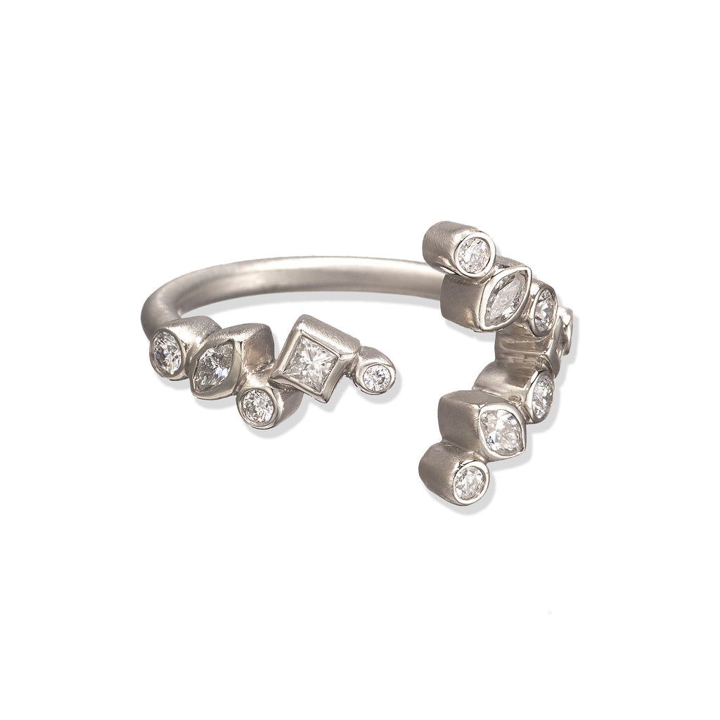 Throwing Stones Arrow Ring Diamonds