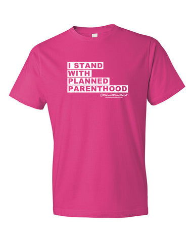 I Stand with PP Pink Unisex T