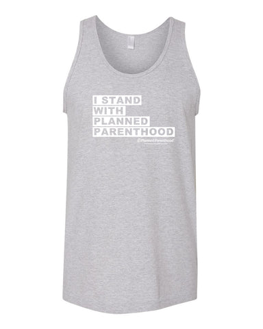 I Stand with PP Grey Unisex Tank