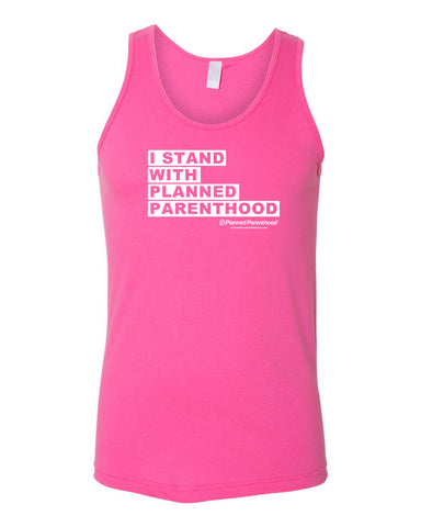 I Stand with PP Pink Unisex Tank