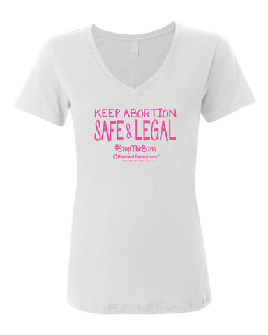 PP Keep Abortion Women's V-neck T