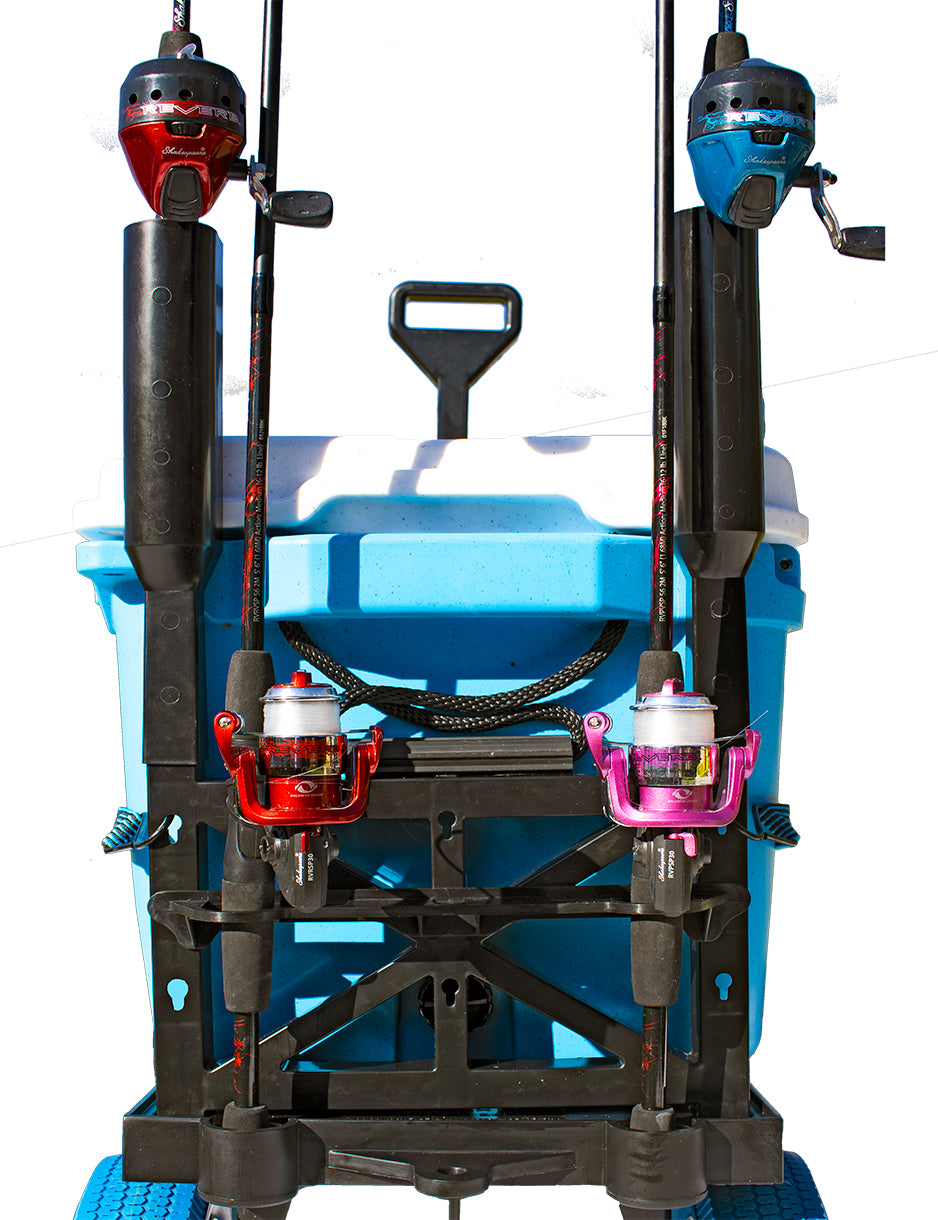 Cooler & Fishing Cart-Blue