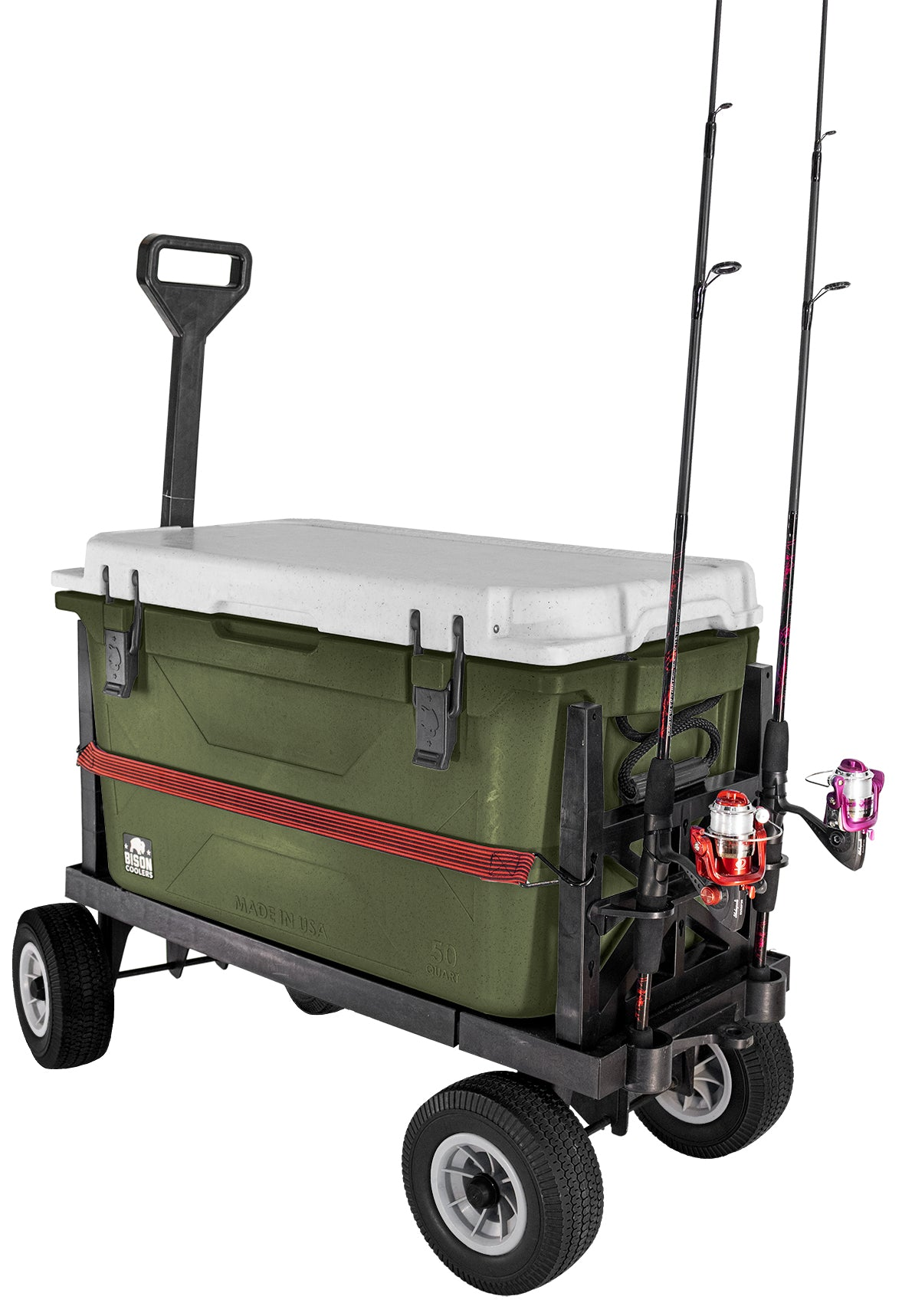 Cooler & Fishing Cart-Black