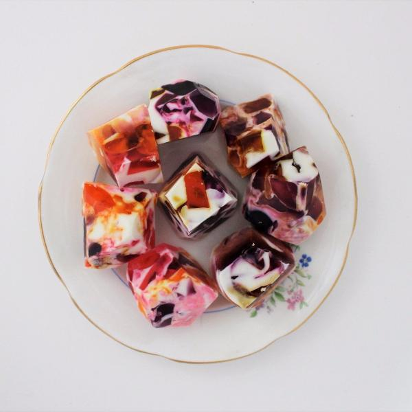 diy gemstone soaps