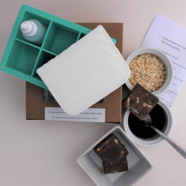 Make your own Coffee Oatmeal Exfoliating Bars - MakeKit DIY Craft Kits