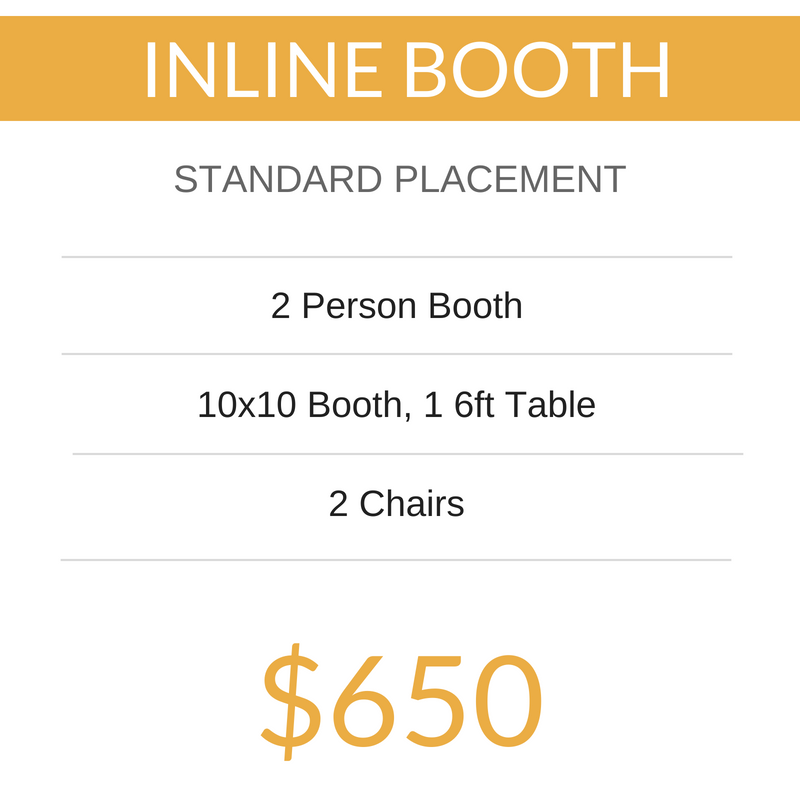 2019 PIAE 10x20 Main Hall Vendor Booth