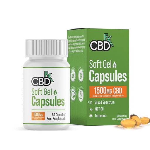 CBDfx Gel Capsules 1500mg (60pcs)