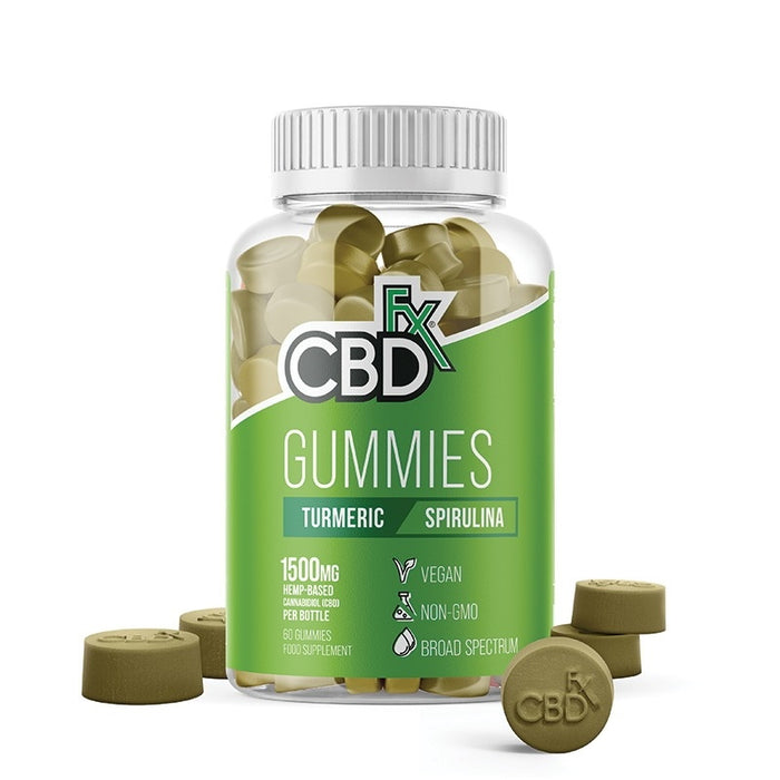 CBDfx Gummies - Turmeric & Spirulina (Jar of 60)