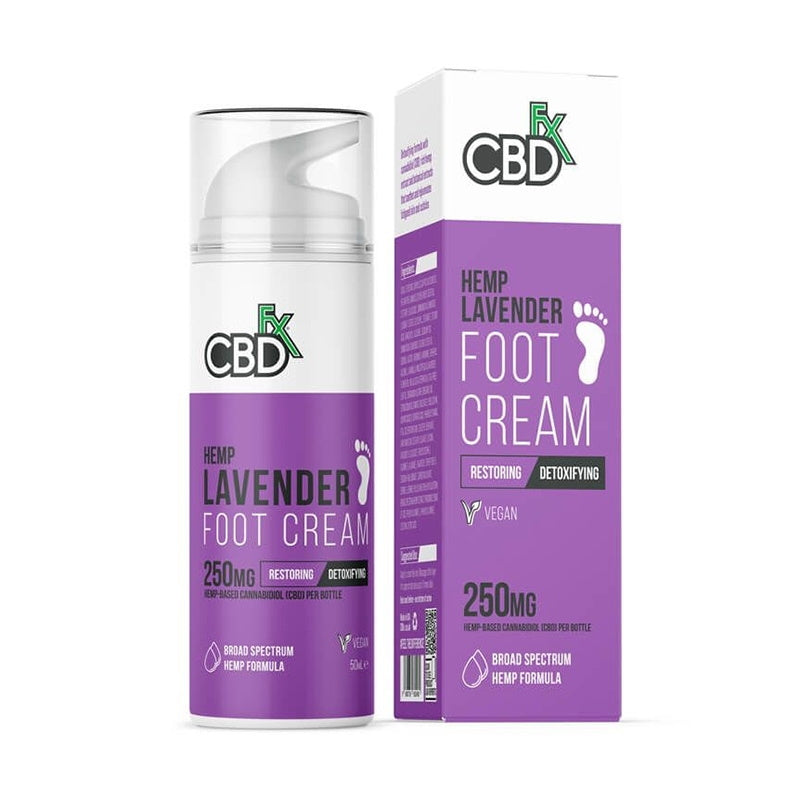 CBDfx Lavender Foot Cream 250mg 50ml