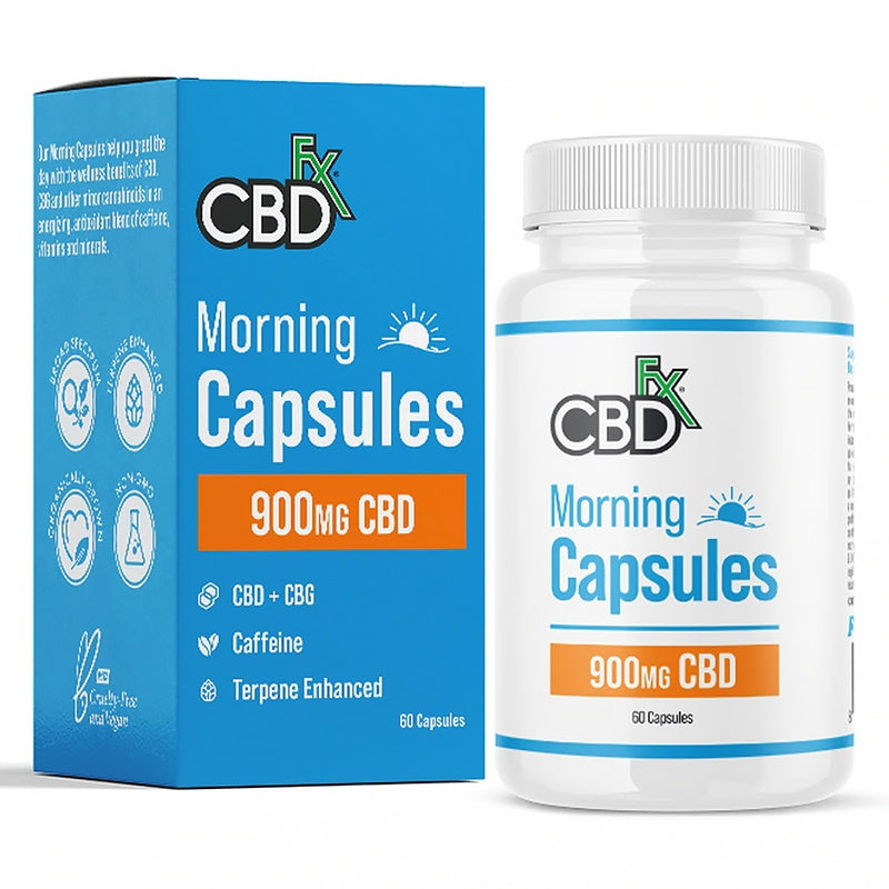 CBDfx Morning Capsules 900mg (Jar of 60)