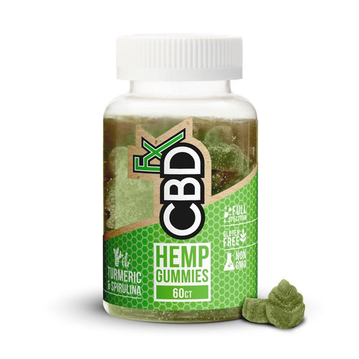 CBDfx  Tumeric and Spirulina Gummy Bears (Jar of 60)