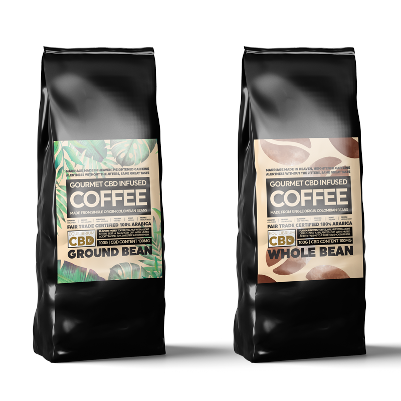 Equilibrium CBD Infused Coffee - 100g (250mg CBD)