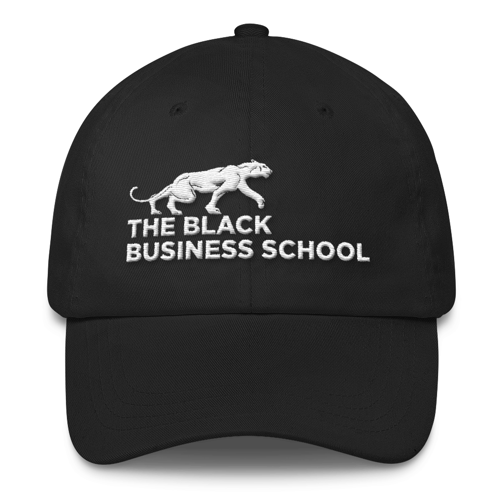 Black Business School Dad Cap