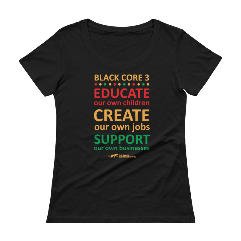 Black Core 3 Ladies' Scoopneck T-Shirt