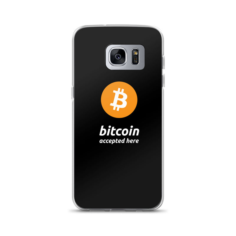 Bitcoin Accepted Here Samsung Case