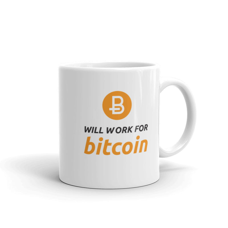 Will Work for Bitcoin Mug