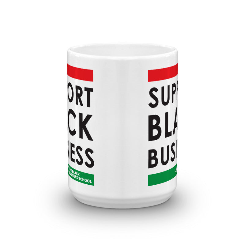 Support Black Business Mug