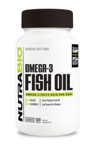 NutraBio - Omega 3 Fish Oil (250 servings)