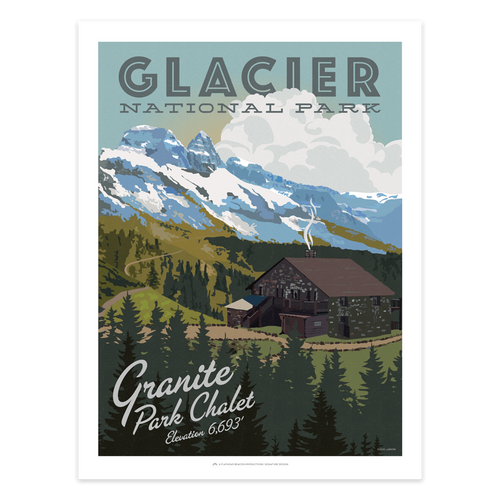 granite park chalet - glacier national park prints