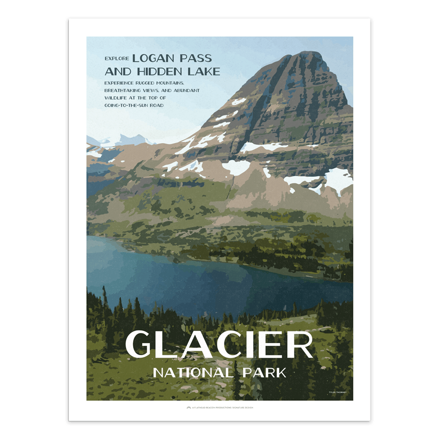 Hidden Lake - Glacier National Park Prints