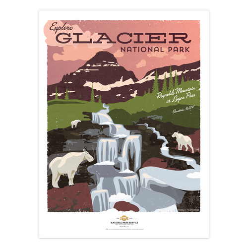 reynolds mountain - glacier national park prints