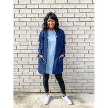 Load image into Gallery viewer, Light Blue T-Shirt Dress with Pockets
