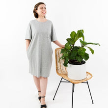Load image into Gallery viewer, Gray Grey T-Shirt Dress