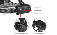 5 LED TACTICAL 15000 LUMEN HEAD LAMP