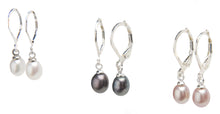 Load image into Gallery viewer, Misty Pearl Drop Earrings