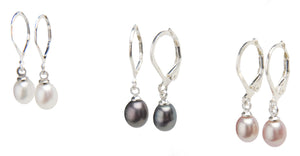 Misty Pearl Drop Earrings
