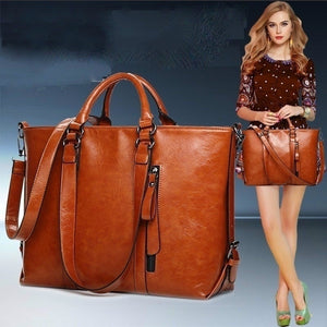 2017 New Fashion PU Leather Bags Tote Women Leather Handbags Women Messenger Bags Shoulder Bags Hot Vintage Bags Popular