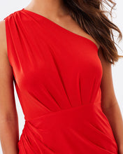 Load image into Gallery viewer, One Shoulder Asymmetrical Dress - Red