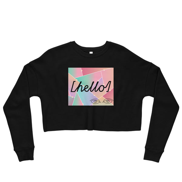 HELLO Crop Sweatshirt