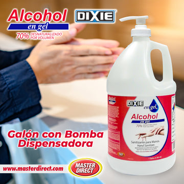 ALCOHOL EN GEL - ALCOGEL - GALON (3.785 Litros) CON BOMBA DISPENSADORA.