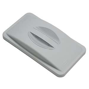 -TAPA PLASTICA PARA BASURERO RECTANGULAR GRIS; RUBBERMAID No.FG268988BEIG.