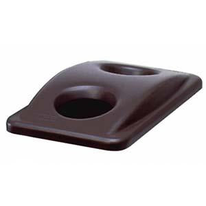 -TAPA PLASTICA PARA BASURERO RECTANGULAR CHOCOLATE; RUBBERMAID No.FG269288BRN.