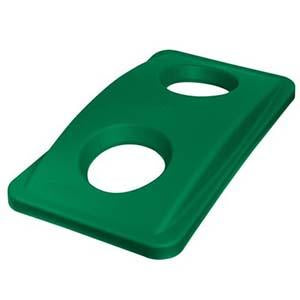 -TAPA PLASTICA PARA BASURERO RECTANGULAR VERDE; RUBBERMAID No.FG269288GRN.