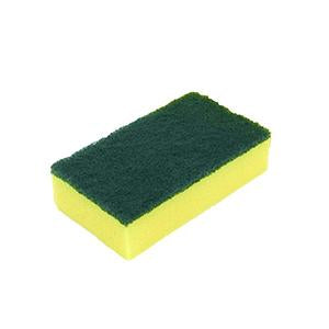 "ESPONJA MEDIANA 3"" X 5"" CON BRILLO VERDE HEAVY DUTY, DIXIE."