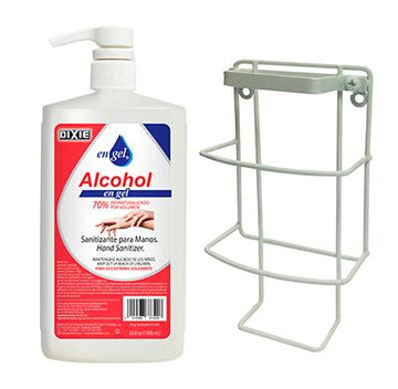 Dispensador/Soporte de Pared Para Botella Oval 1 Litro Dixie