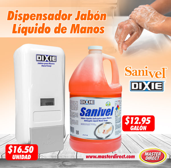 DISPENSADOR DE JABON LIQUIDO RELLENABLE, No. AYT-622J.