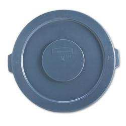 -TAPA PLASTICA PLANA PARA BASURERO 32 GL. GRIS, RUBBERMAID No. FG263100GRAY.