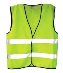 CHALECO DE SEGURIDAD AMARILLO CON LÍNEAS REFLECTORAS HORIZONTALES, TALLA XL, BEST VALUE No. H11074.