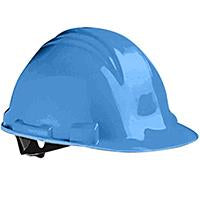 -CASCO DE SEGURIDAD HDPE, 4 PUNTOS SUSPENSION, AJUSTE TIPO PIN, AZUL PEAK NORTH No. A59070000.