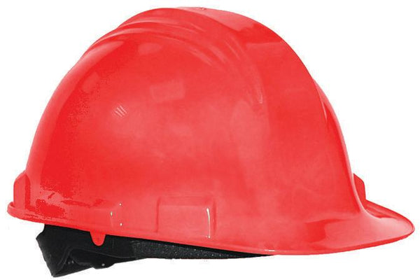 -CASCO DE SEGURIDAD HDPE, 4 PUNTOS SUSPENSION, AJUSTE TIPO PIN, ROJO PEAK NORTH No. A59050000.