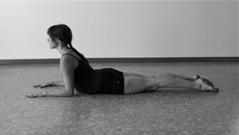 Yoga pose example for lower back pain sphinx pose
