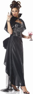 Womens Lady Vampire Black Goth Costume