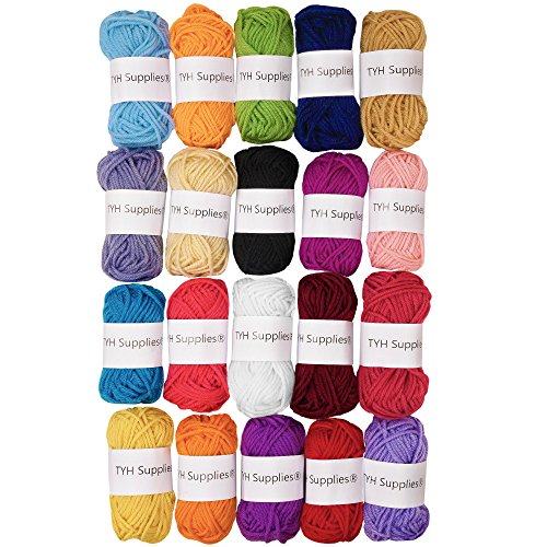 TYH Supplies 20 Assorted Color Yarn for Magic & Spells