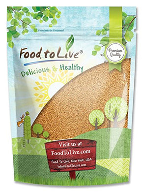Yellow Mustard Seeds by Food to Live (Kosher, Bulk) — 1 Pound
