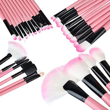 Zodaca 32-Piece Set Professional Cosmetic Makeup Brushes with Pouch Bag, Pink